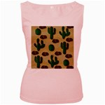 Cactuses Women s Pink Tank Top