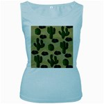 Cactuses Women s Baby Blue Tank Top