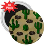 Cactuses 3  Magnets (10 pack)