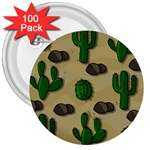 Cactuses 3  Buttons (100 pack)