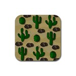 Cactuses Rubber Square Coaster (4 pack)
