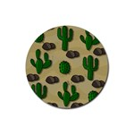 Cactuses Rubber Round Coaster (4 pack)