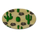 Cactuses Oval Magnet