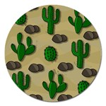 Cactuses Magnet 5  (Round)