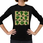 Cactuses Women s Long Sleeve Dark T-Shirts