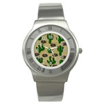 Cactuses Stainless Steel Watch
