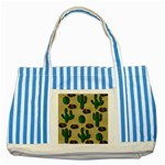 Cactuses Striped Blue Tote Bag