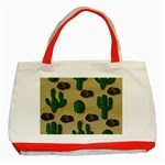 Cactuses Classic Tote Bag (Red)