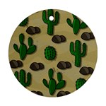 Cactuses Round Ornament (Two Sides)