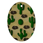 Cactuses Oval Ornament (Two Sides)