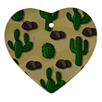 Cactuses Heart Ornament (2 Sides)