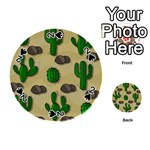 Cactuses Playing Cards 54 (Round)