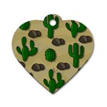 Cactuses Dog Tag Heart (Two Sides)