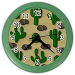 Cactuses Color Wall Clocks