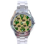 Cactuses Stainless Steel Analogue Watch