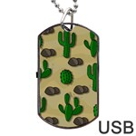 Cactuses Dog Tag USB Flash (Two Sides)