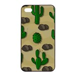 Cactuses Apple iPhone 4/4s Seamless Case (Black)