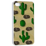 Cactuses Apple iPhone 4/4s Seamless Case (White)