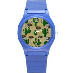 Cactuses Round Plastic Sport Watch (S)
