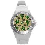 Cactuses Round Plastic Sport Watch (L)
