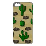 Cactuses Apple iPhone 5 Case (Silver)