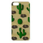 Cactuses Apple iPhone 5 Seamless Case (White)