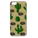 Cactuses Apple Seamless iPhone 5 Case (Clear)