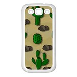 Cactuses Samsung Galaxy S3 Back Case (White)