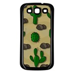 Cactuses Samsung Galaxy S3 Back Case (Black)