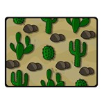 Cactuses Double Sided Fleece Blanket (Small)