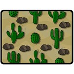 Cactuses Double Sided Fleece Blanket (Large)