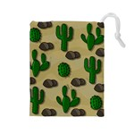 Cactuses Drawstring Pouches (Large)