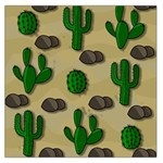Cactuses Large Satin Scarf (Square)