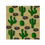 Cactuses Small Satin Scarf (Square)