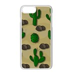 Cactuses Apple iPhone 7 Plus White Seamless Case