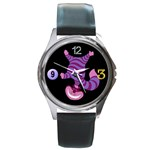 cheshire cat head Round Metal Watch