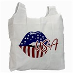 USA Lips 4july White Reusable Bag (One Side)