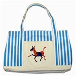 Funny Donkey Striped Blue Tote Bag