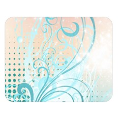 Pink Blue Pattern Double Sided Flano Blanket (Large) from ArtsNow.com 80 x60  Blanket Front