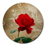 Red Rose Art Round Mousepad