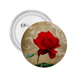 Red Rose Art 2.25  Button