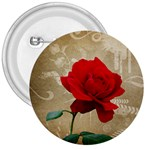Red Rose Art 3  Button