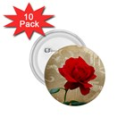 Red Rose Art 1.75  Button (10 pack)