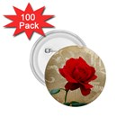 Red Rose Art 1.75  Button (100 pack)