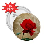 Red Rose Art 2.25  Button (10 pack)