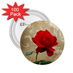 Red Rose Art 2.25  Button (100 pack)