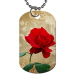 Red Rose Art Dog Tag (One Side)