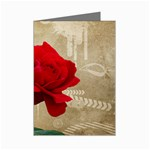 Red Rose Art Mini Greeting Cards (Pkg of 8)