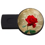 Red Rose Art USB Flash Drive Round (2 GB)