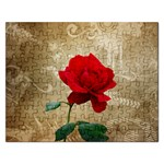 Red Rose Art Jigsaw Puzzle (Rectangular)